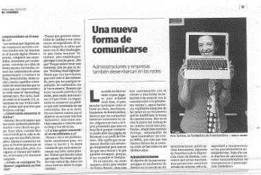 """Entrevista a Ana Santos: """"Una nueva forma de comunicarse"""""""