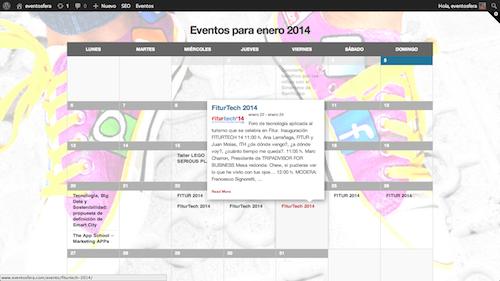 El nuevo calendario de eventos de Eventosfera ya está aquí